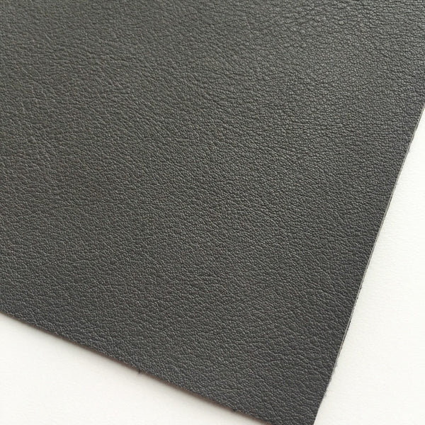 Dark Gray Vegan Faux Leather