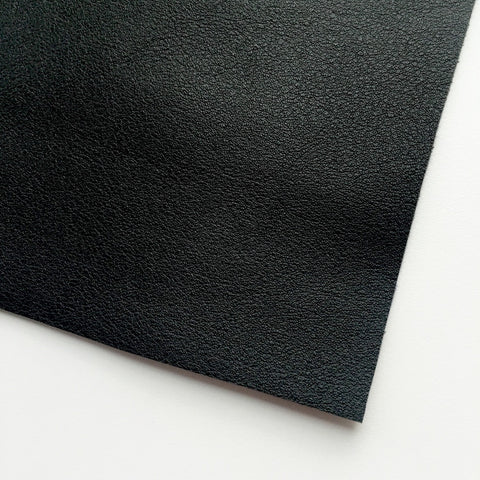 Black Vegan Faux Leather