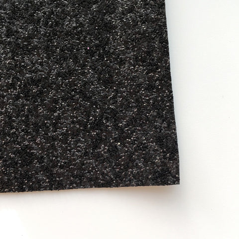 Black Matte Glitter Fabric Sheet