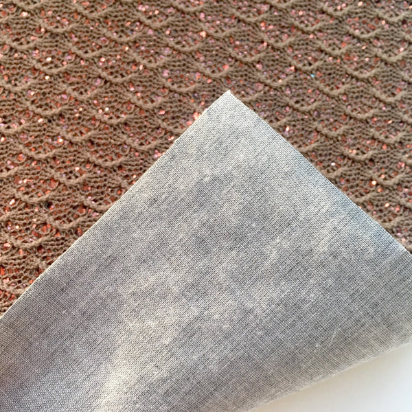 Chocolate Lace Specialty Glitter Fabric Sheet