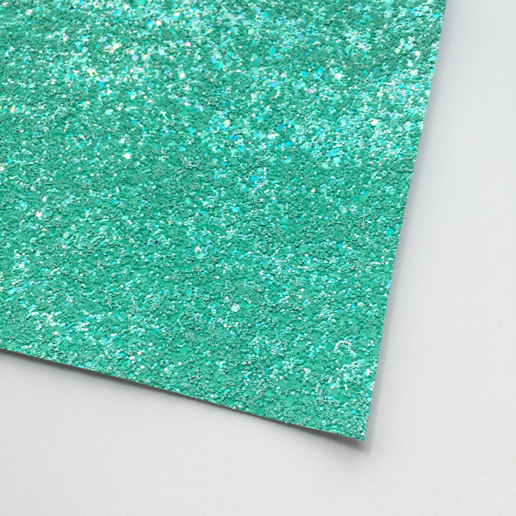 Sea Foam Shimmer Premium Glitter Fabric Sheet