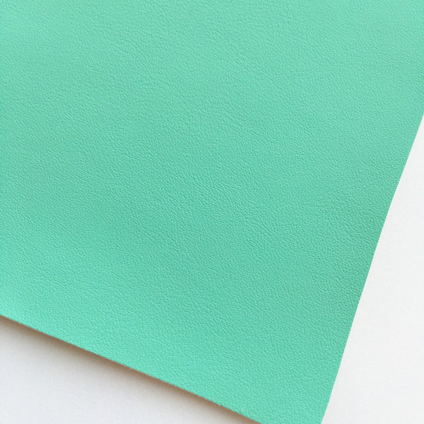 Light Aqua Vegan Faux Leather