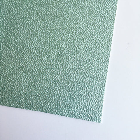Metallic Mint Textured Faux Leather