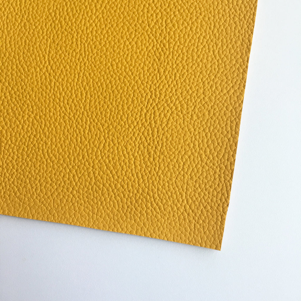 Mustard Textured Faux Leather