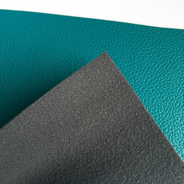 Teal Textured Faux Leather