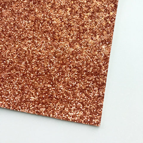 Terra Cotta Matte Glitter Fabric Sheet