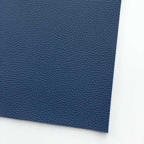 Navy Textured Faux Leather