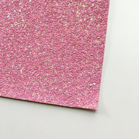 Princess Pink Shimmer Premium Glitter Fabric Sheet