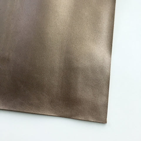 Bronze Smooth Vegan Faux Leather