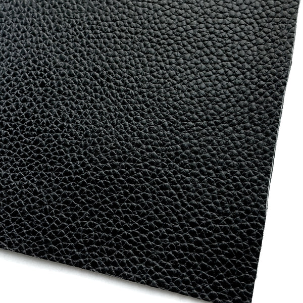 Black Textured Faux Leather