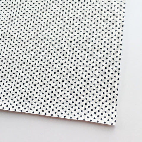White with Black Polka Dot Faux Leather