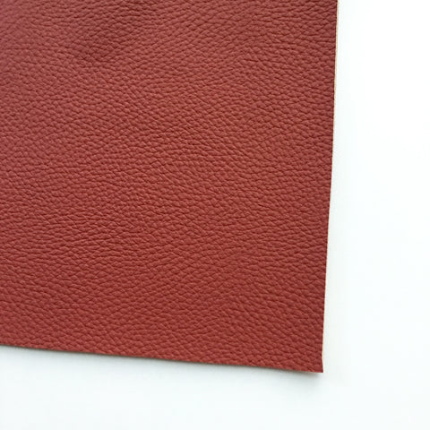 Brick Red Textured Faux Leather