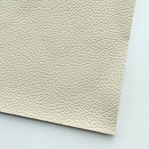 Ivory Textured Faux Leather