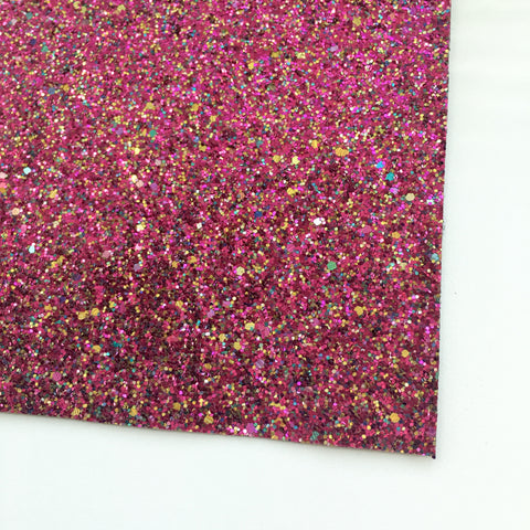 Magenta Muse Specialty Glitter Fabric Sheet