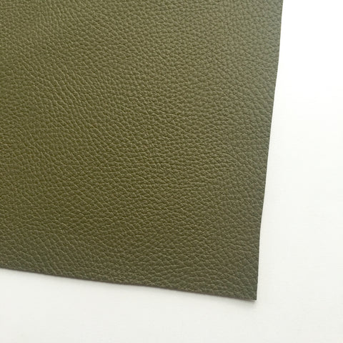 Olive Textured Faux Leather