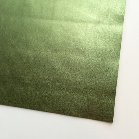 Evergreen Metallic Foil Smooth Faux Leather