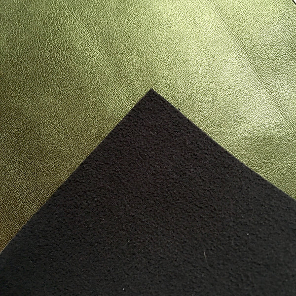 Metallic Foil Evergreen Smooth Faux Leather