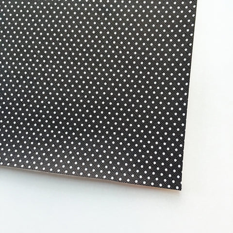 Black with White Polka Dot Faux Leather