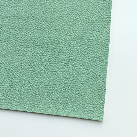 Soft Mint Textured Faux Leather