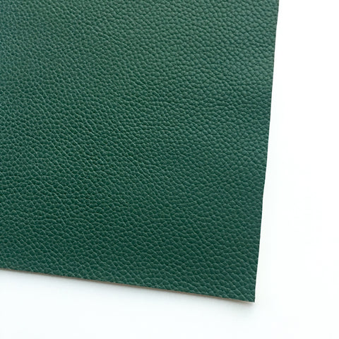 Hunter Green Textured Faux Leather