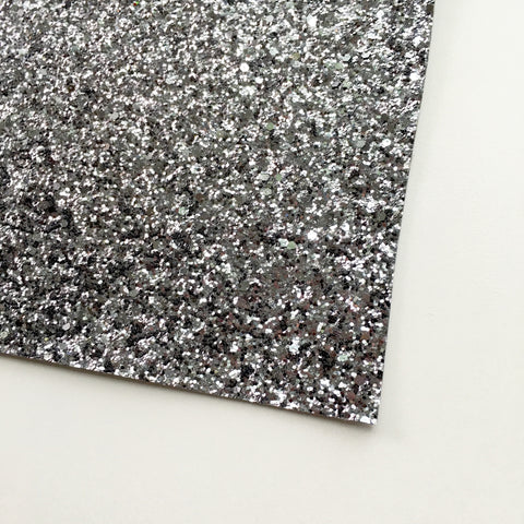 Gunmetal Premium Glitter Fabric Sheet