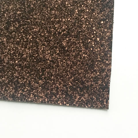 Chestnut Matte Glitter Fabric Sheet