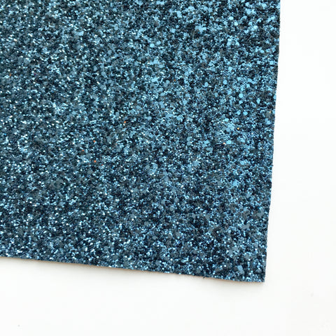 Denim Matte Glitter Fabric Sheet