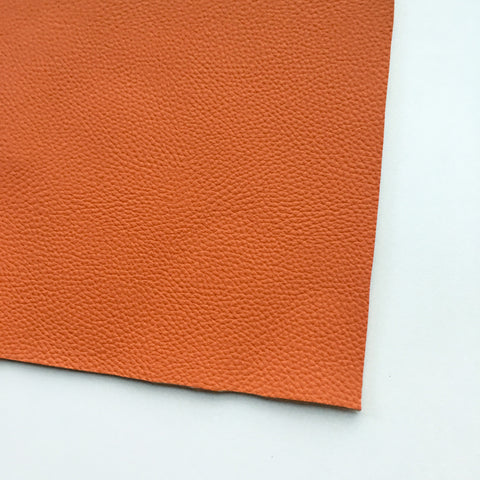 Pumpkin Textured Faux Leather