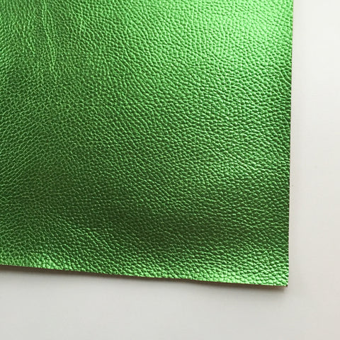 Metallic Foil Green Textured Faux Leather