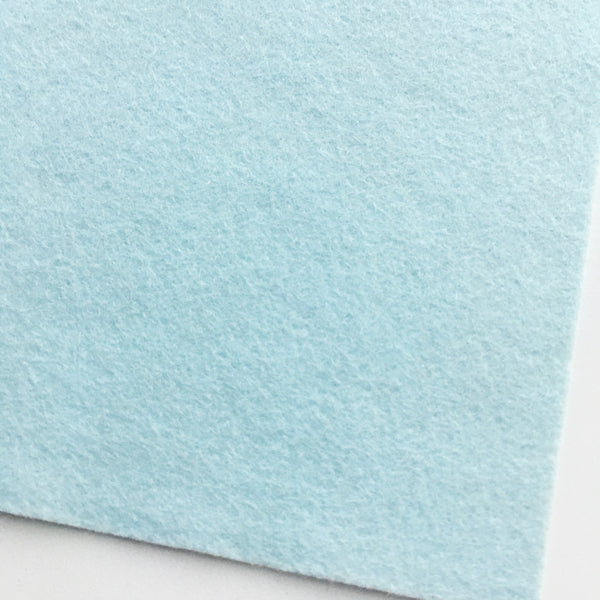 Blue Snow Wool Blend Felt