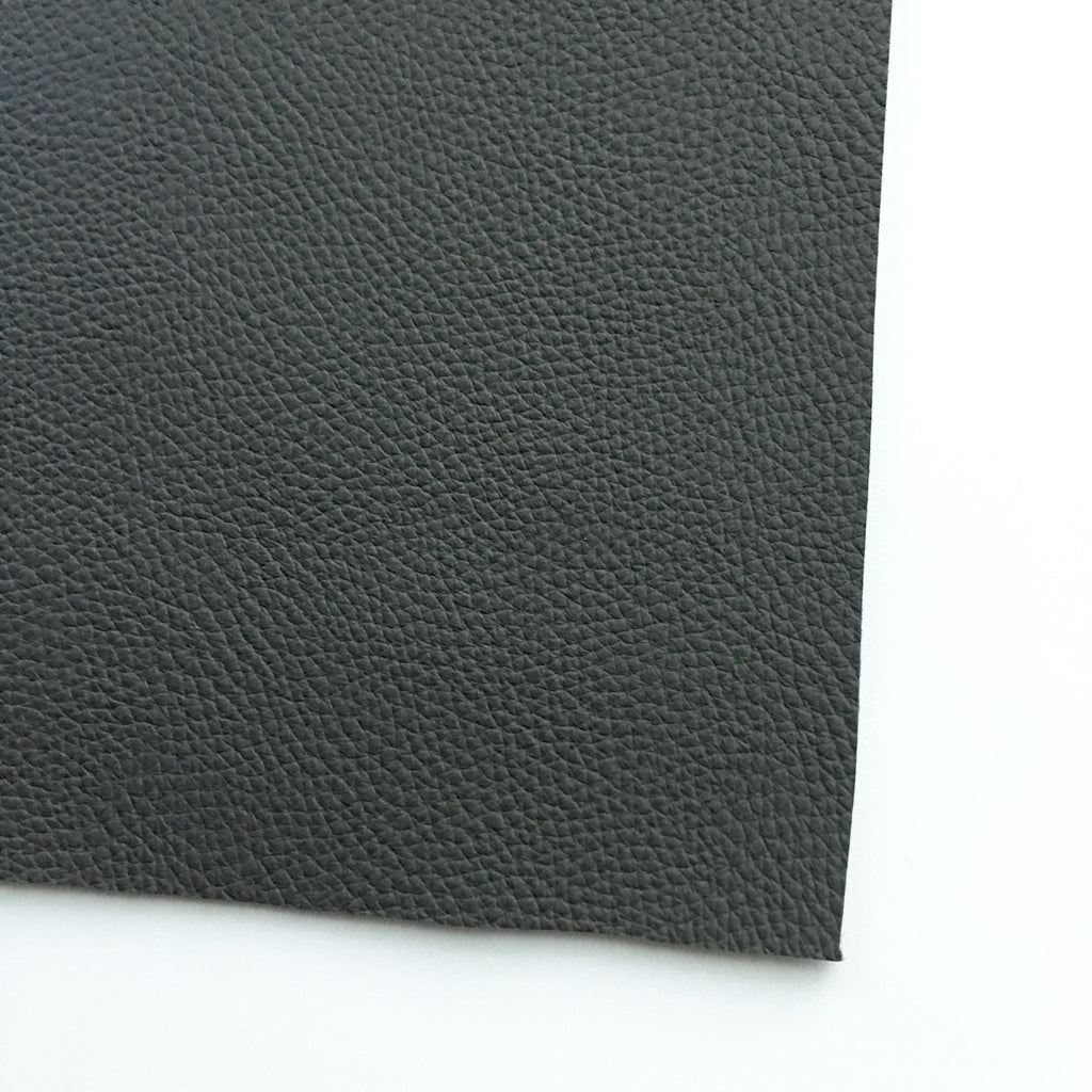 Dark Gray Textured Faux Leather