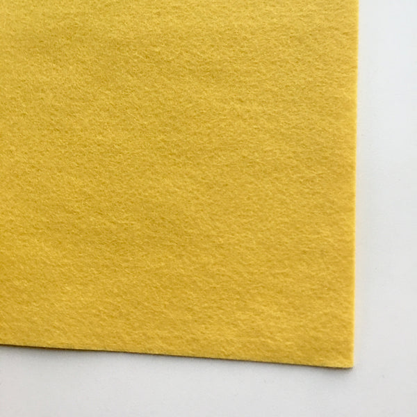 Mellow Yellow Wool Blend Felt