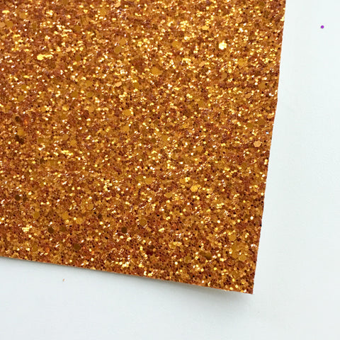 Orange Premium Glitter Fabric Sheet