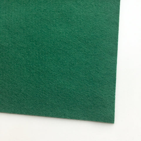 Hunter Green Wool Blend Felt