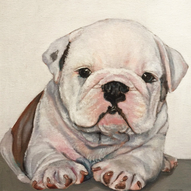 Baby Bully Original Oil Painting