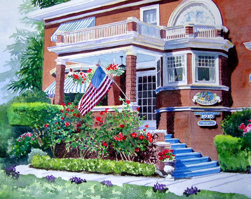 Beazely House Original Watercolor SOLD