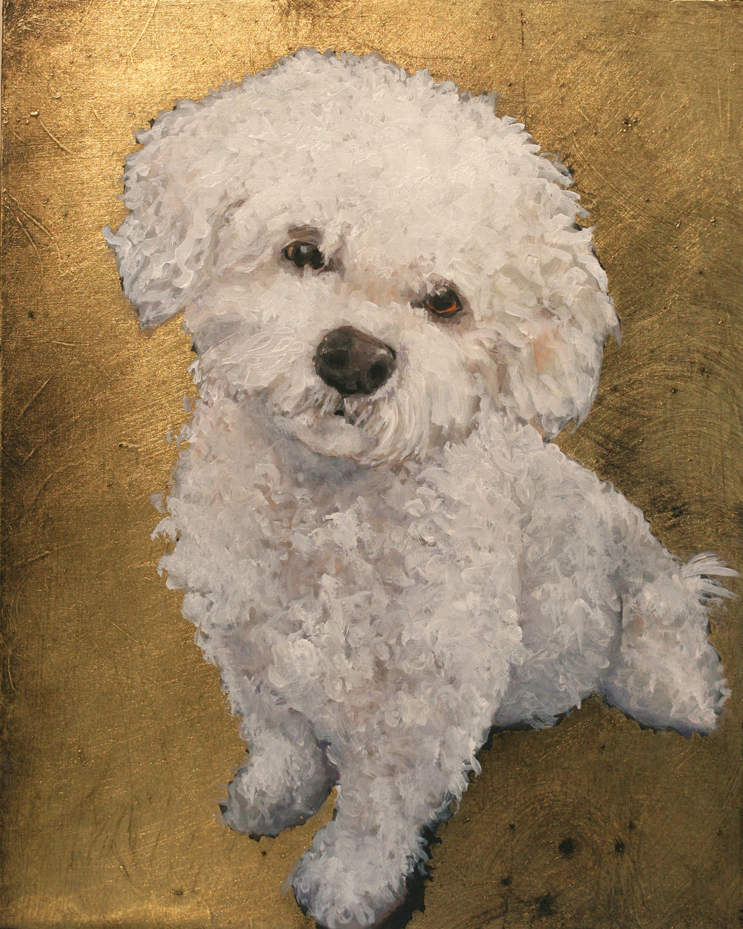 Bichon Original Oil Painting