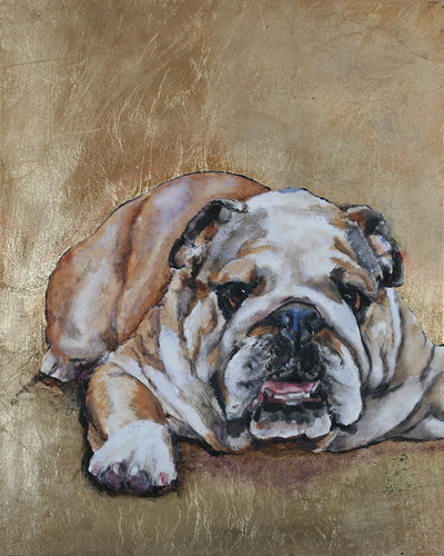 Bulldog Original Oil Painting