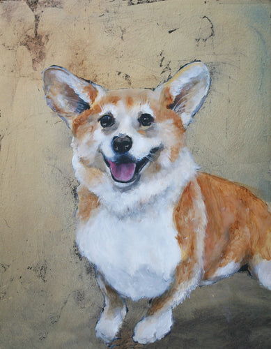 Corgi Orignal Oil Painting