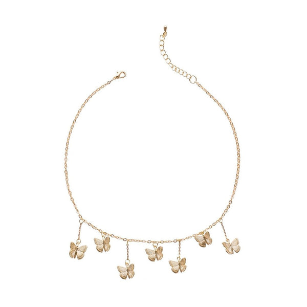 "Matte gold plated butterfly charm choker - ""Sweetest Thing"""