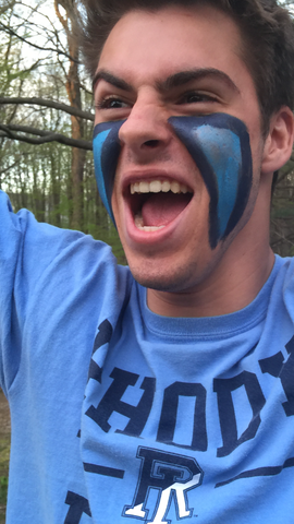 URI fan painted face