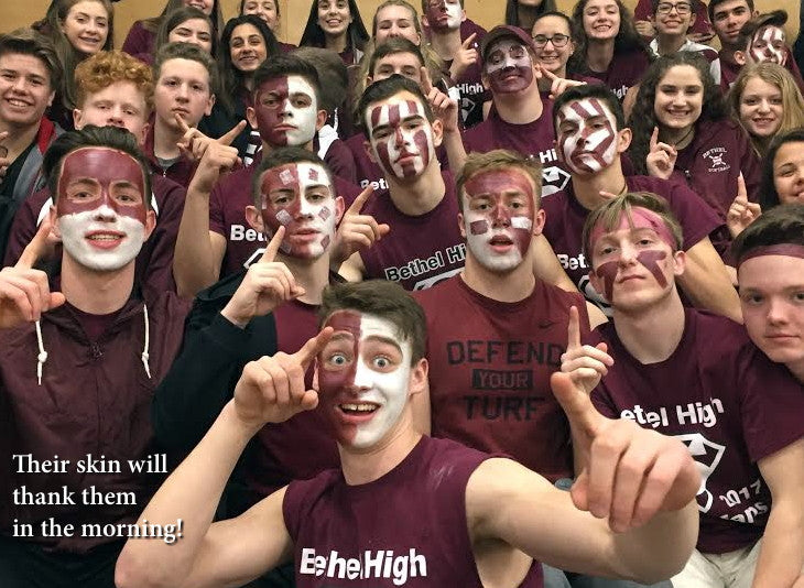 Super fans with painted faces