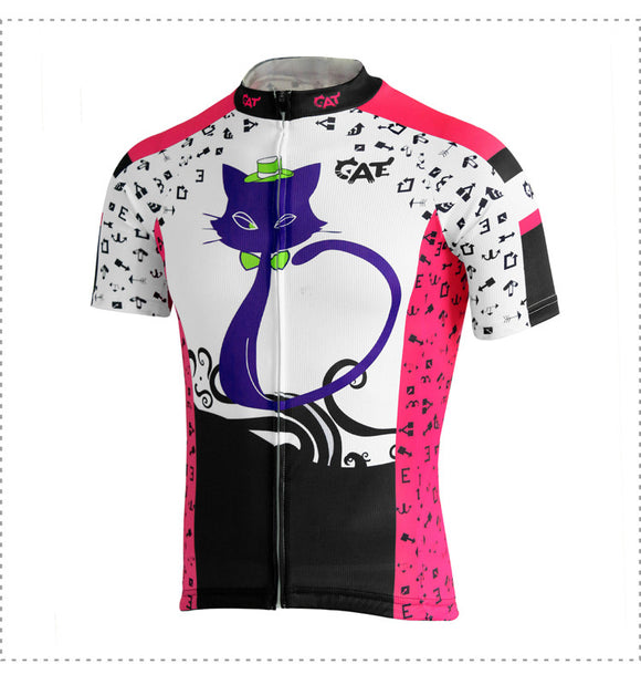 NEW Crazy Purple Cat Women's Short Sleeve Jersey