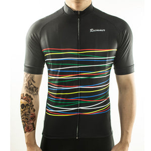WINTER SALE: Black Stripe Cycling Jersey