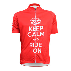 FALL SALE: Keep Calm Red Cycling Jersey