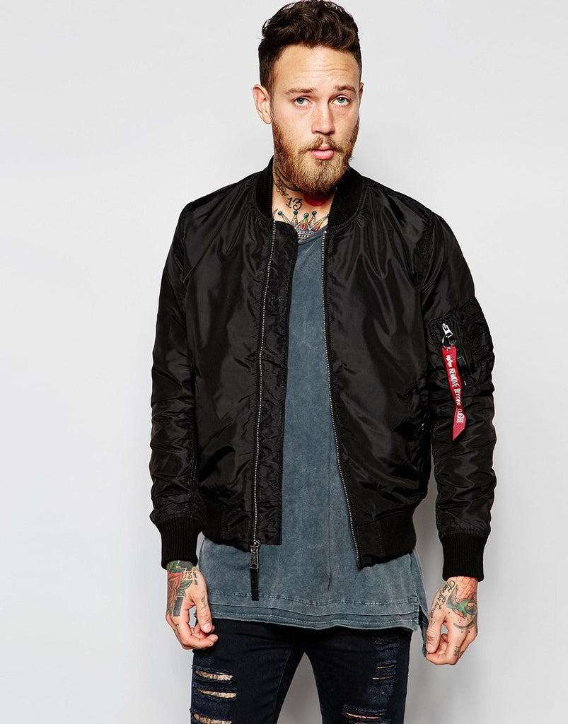 Alpha Industries MA1 Flight Jacket - Black – Jacket Station