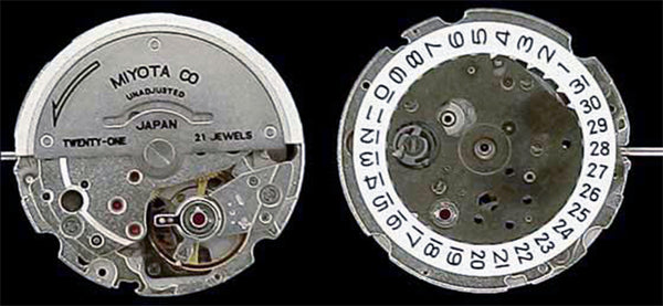 Japanese Miyota 8215 Replica Watch Movement