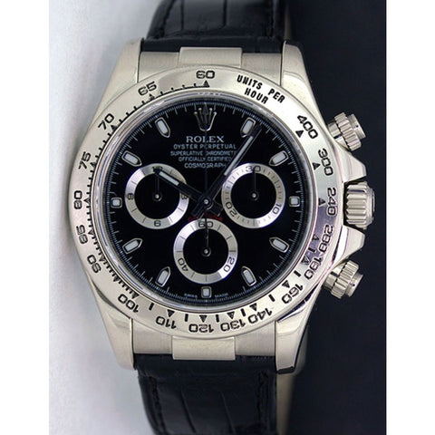 Replica Rolex Daytona Stainless Steel Black Dial Mens Wristwatch