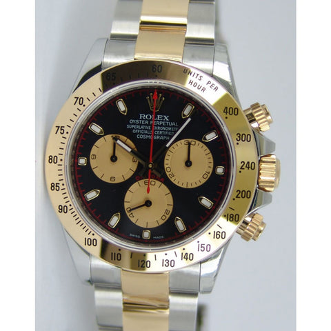 Rolex Daytona Two-Tone 18K Gold Plate & Stainless Steel Mens Watch 40mm