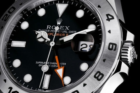 Replica Rolex Explorer ll GMT Black Dial Stainless Steel